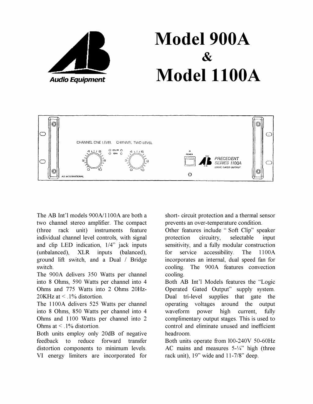 ab international 900 a brochure