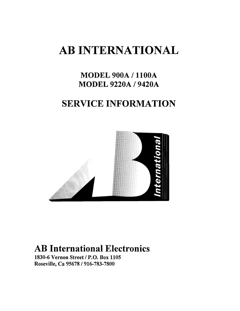 ab international 9420 a service manual