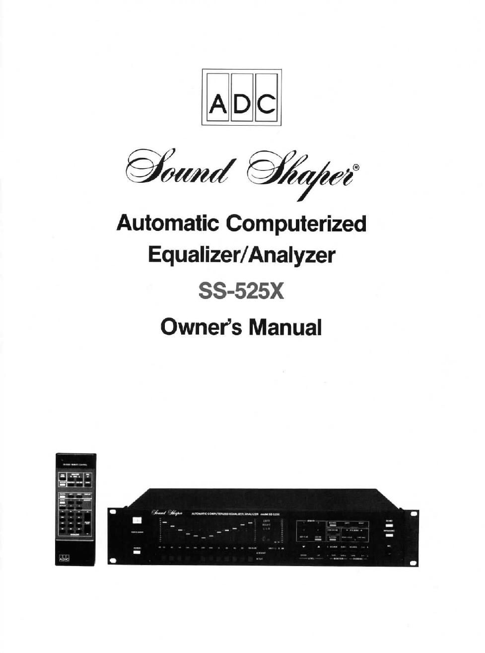 adc soundshaper 525 x owners manual