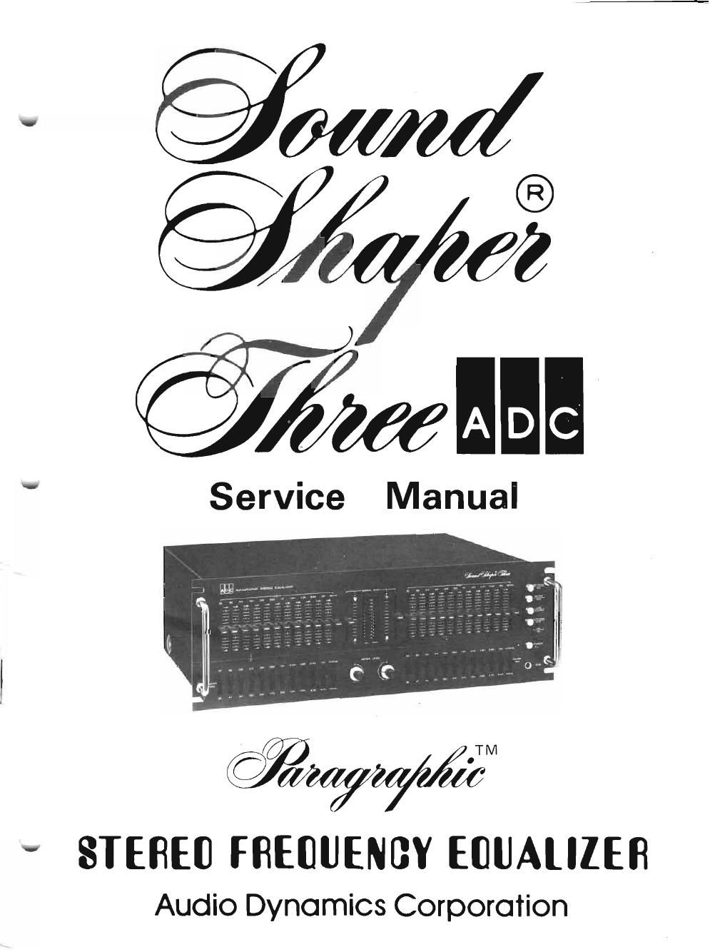 adc soundshaper three service manual