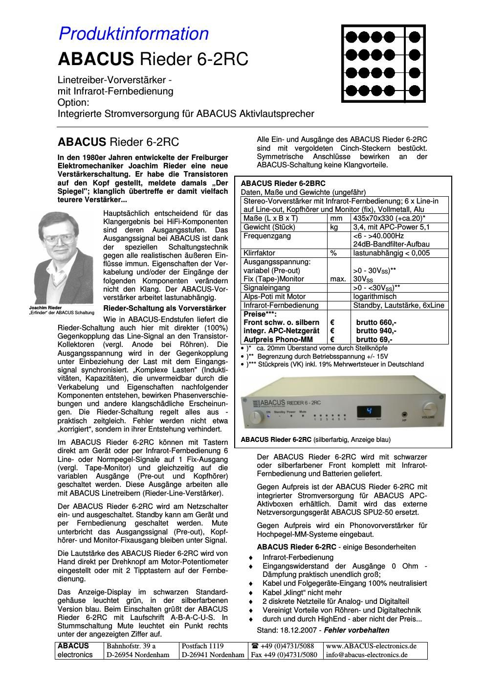 abacus rieder 62 rc brochure