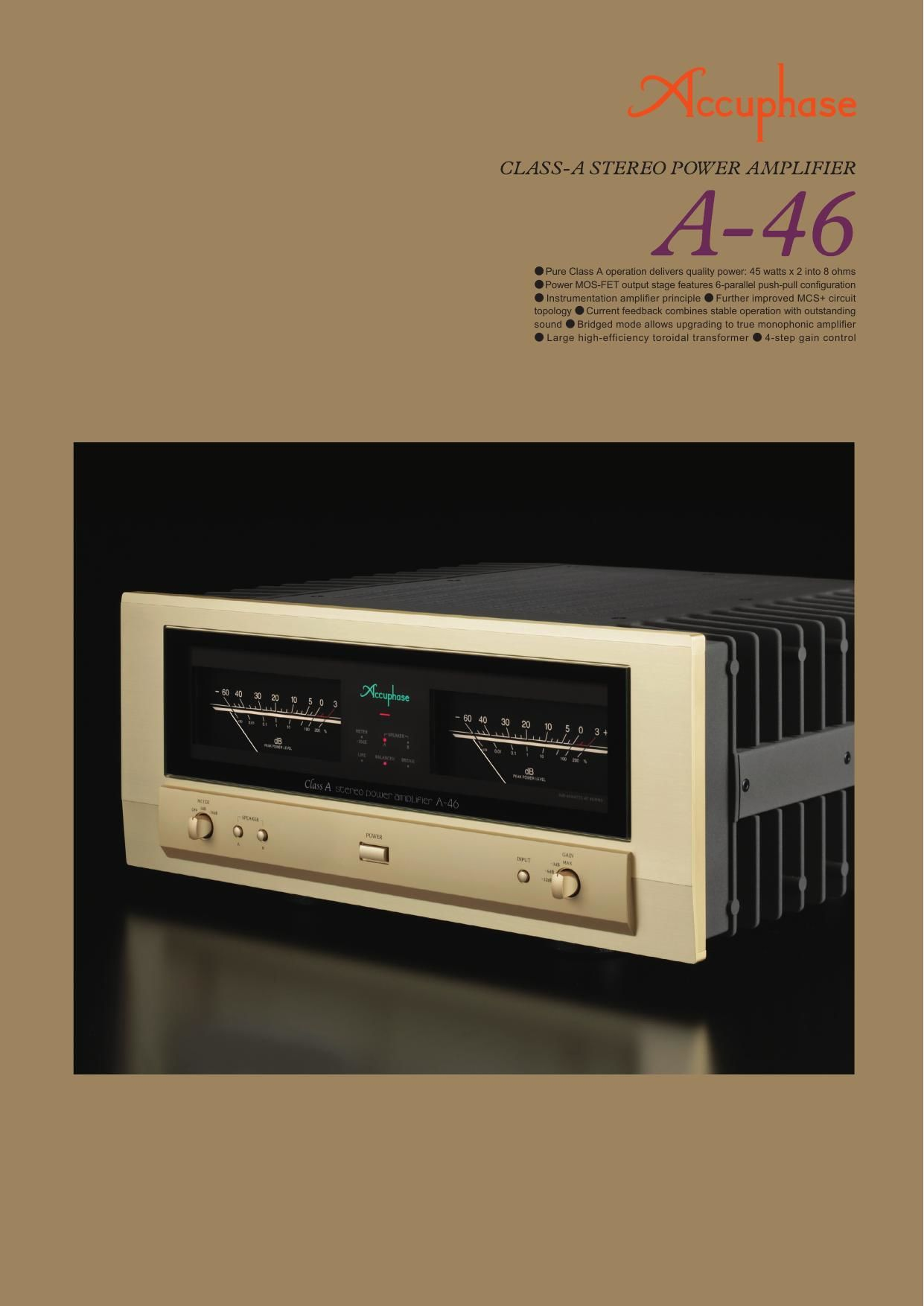 Accuphase A 46 Brochure
