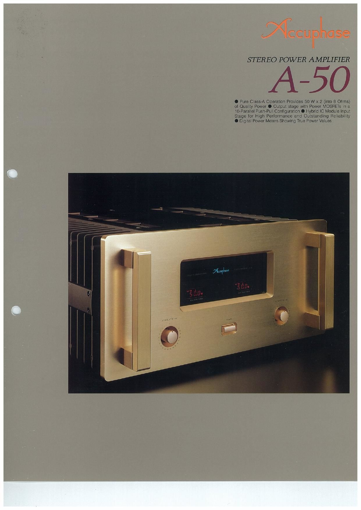 Accuphase A 50 Brochure
