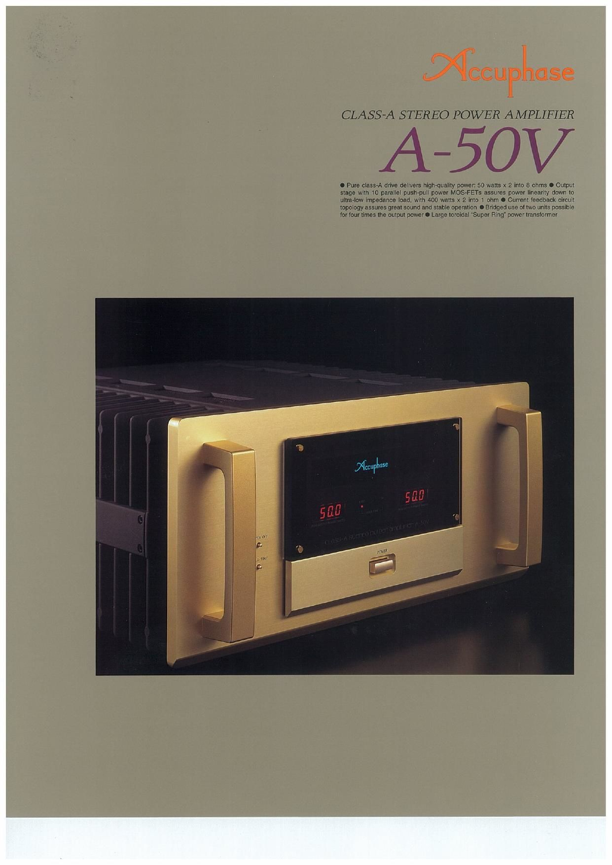 Accuphase A 50 V Brochure