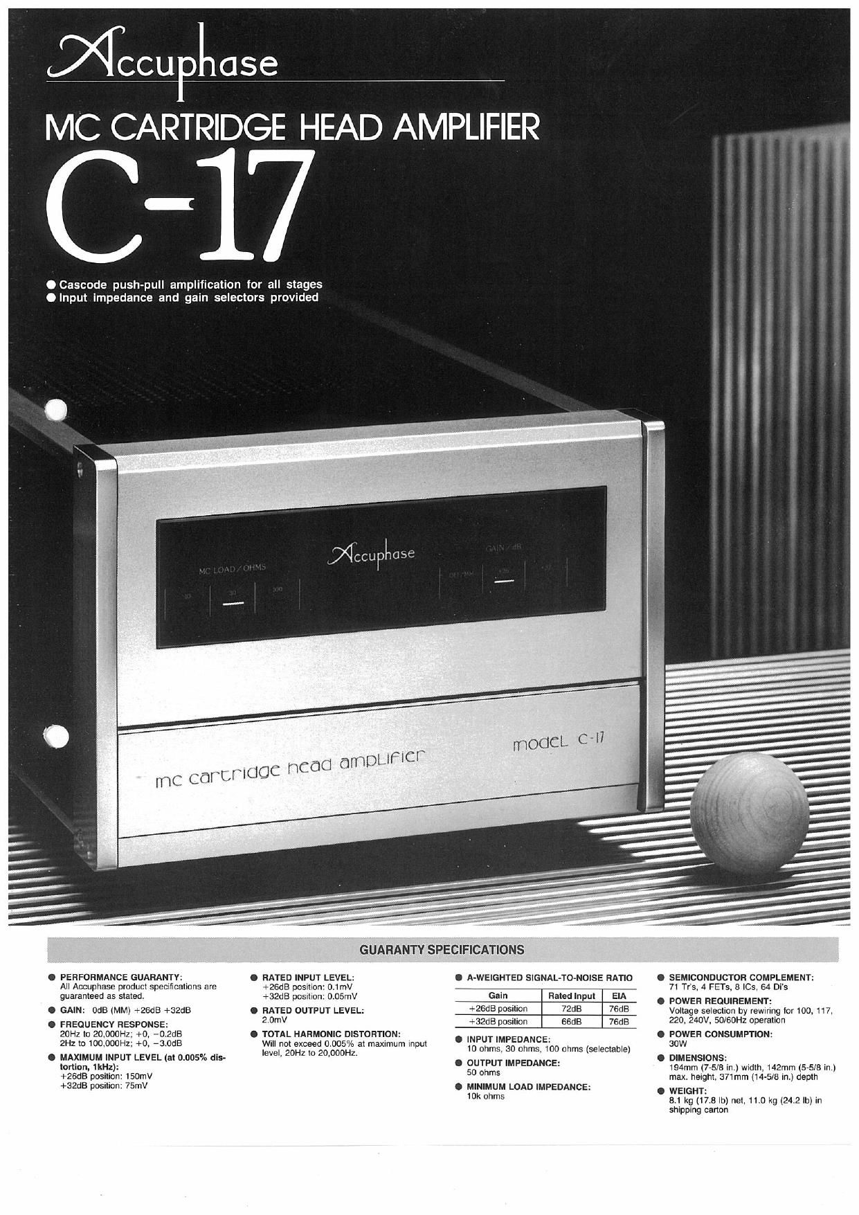 Accuphase C 17 Brochure