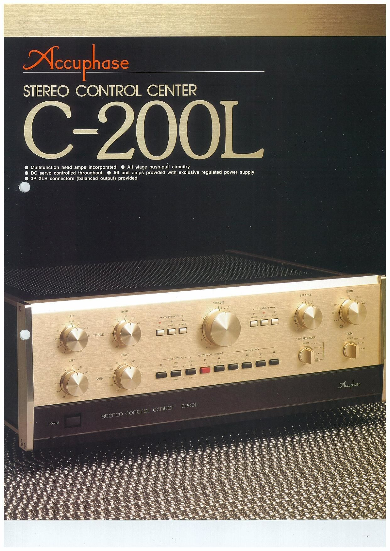 Accuphase C 200 L Brochure