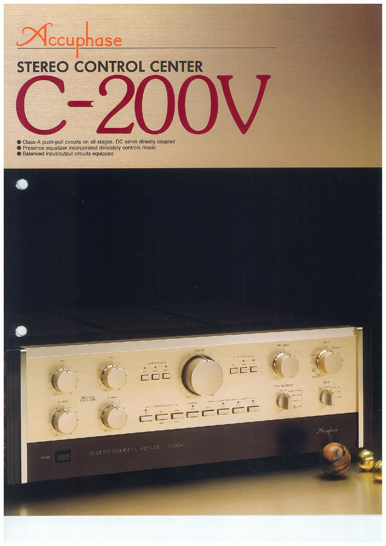 Accuphase C 200 V Brochure