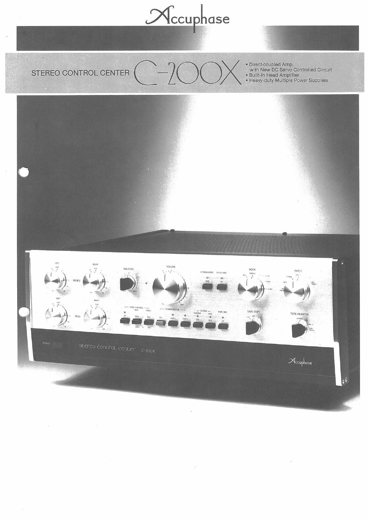 Accuphase C 200 X Brochure