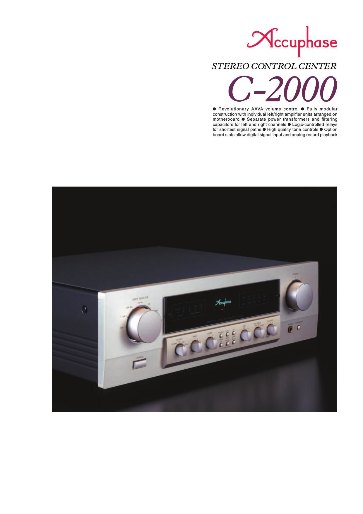 Accuphase C 2000 Brochure