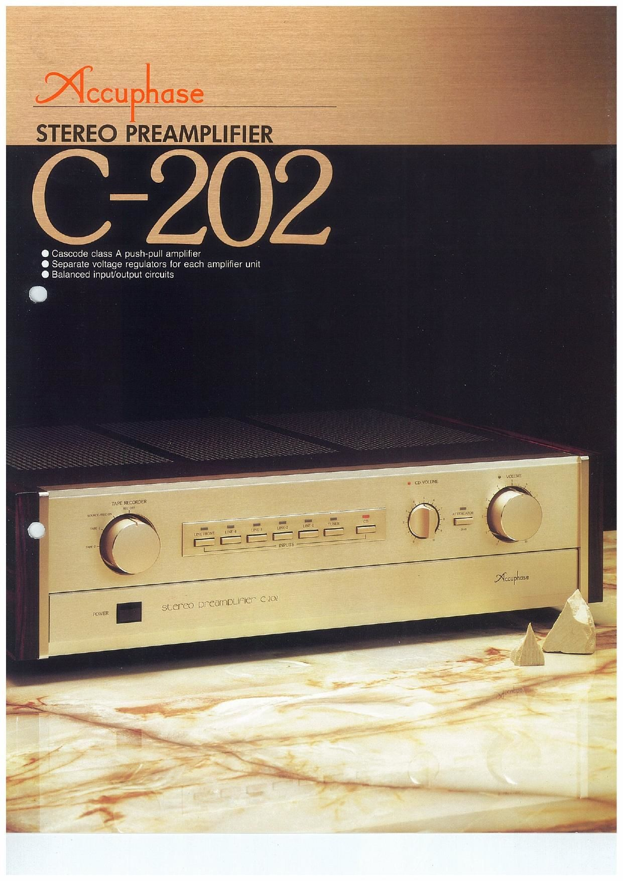 Accuphase C 202 Brochure