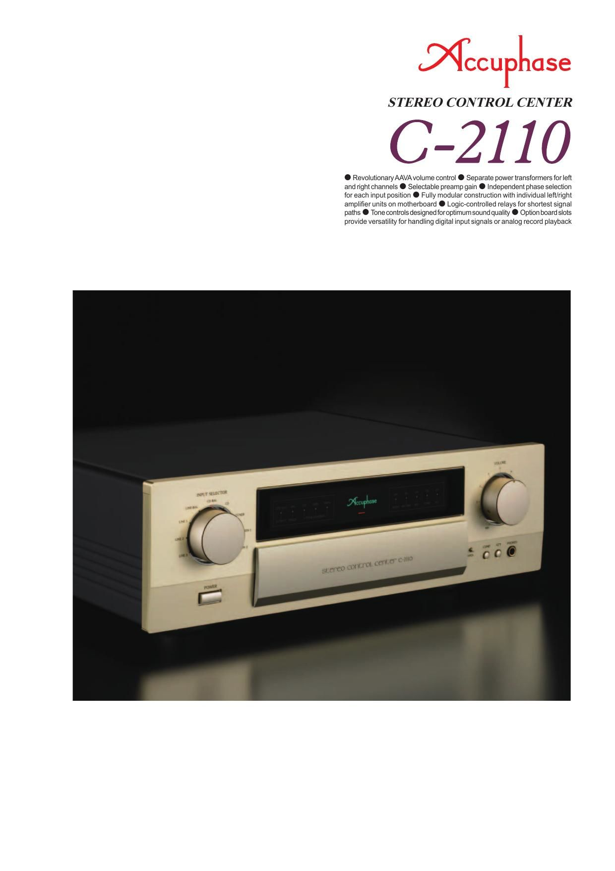 Accuphase C 2110 Brochure