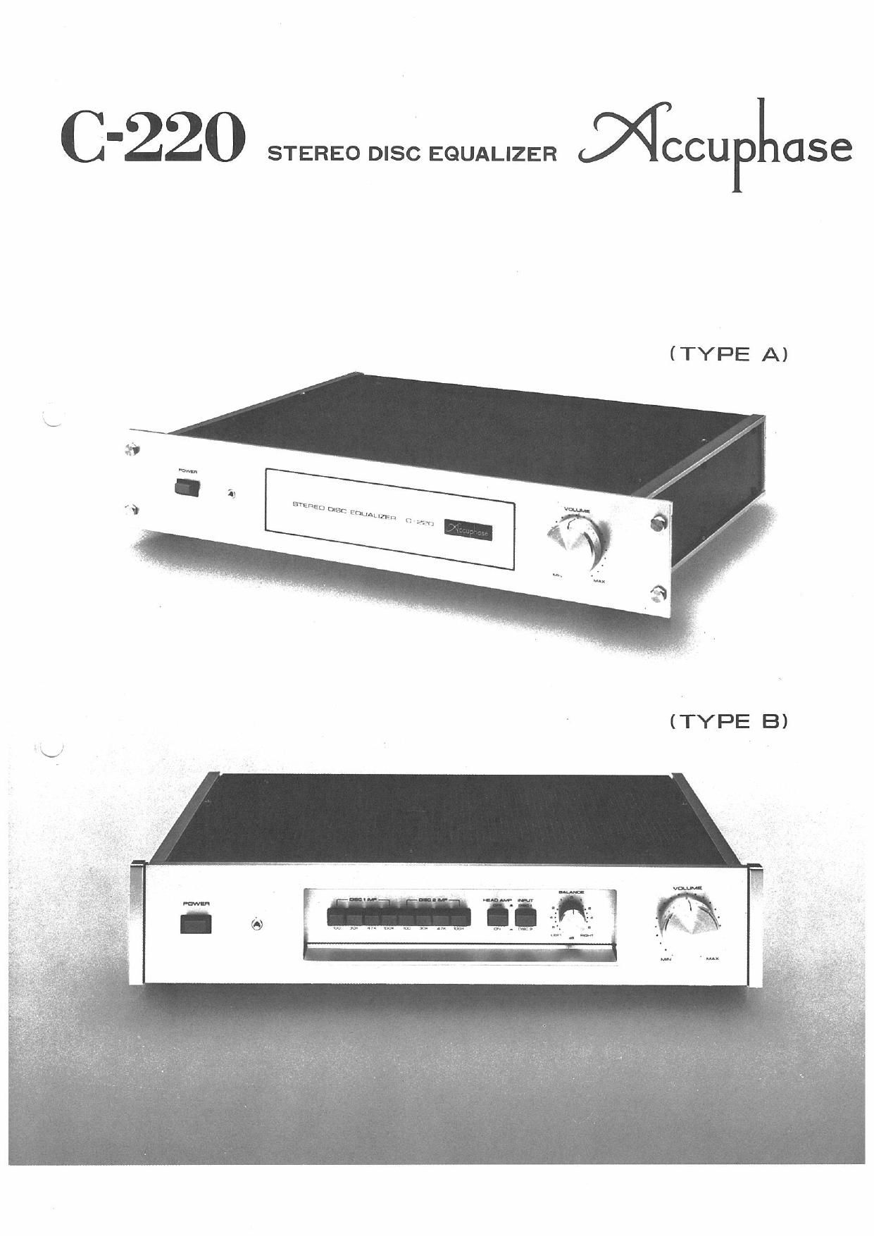 Accuphase C 220 Brochure