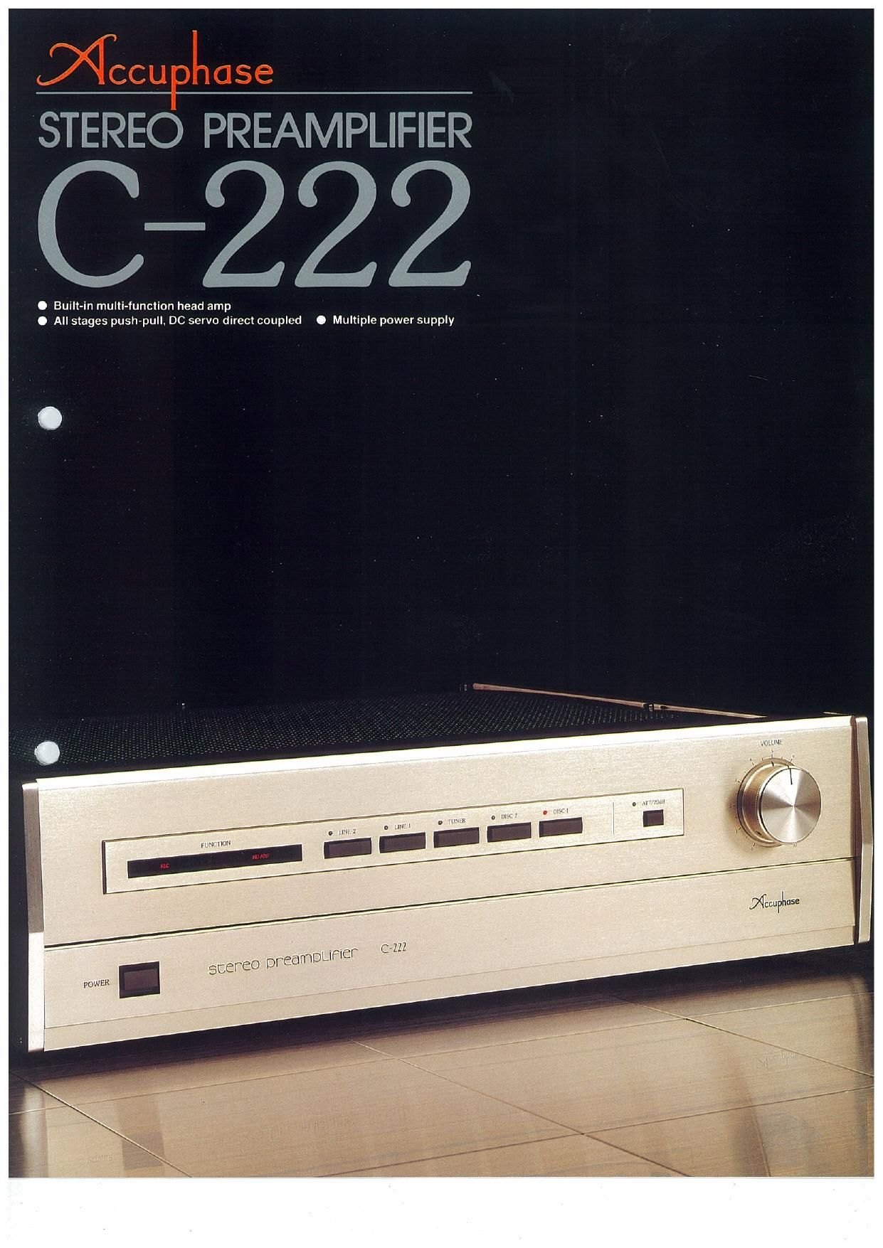 Accuphase C 222 Brochure