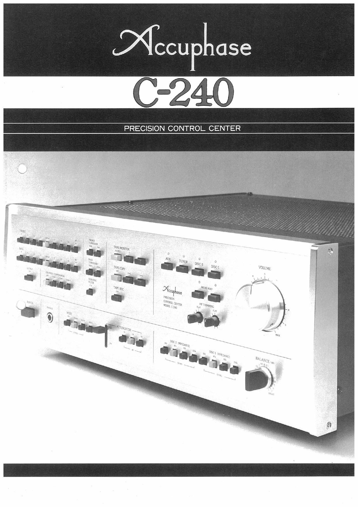Accuphase C 240 Brochure