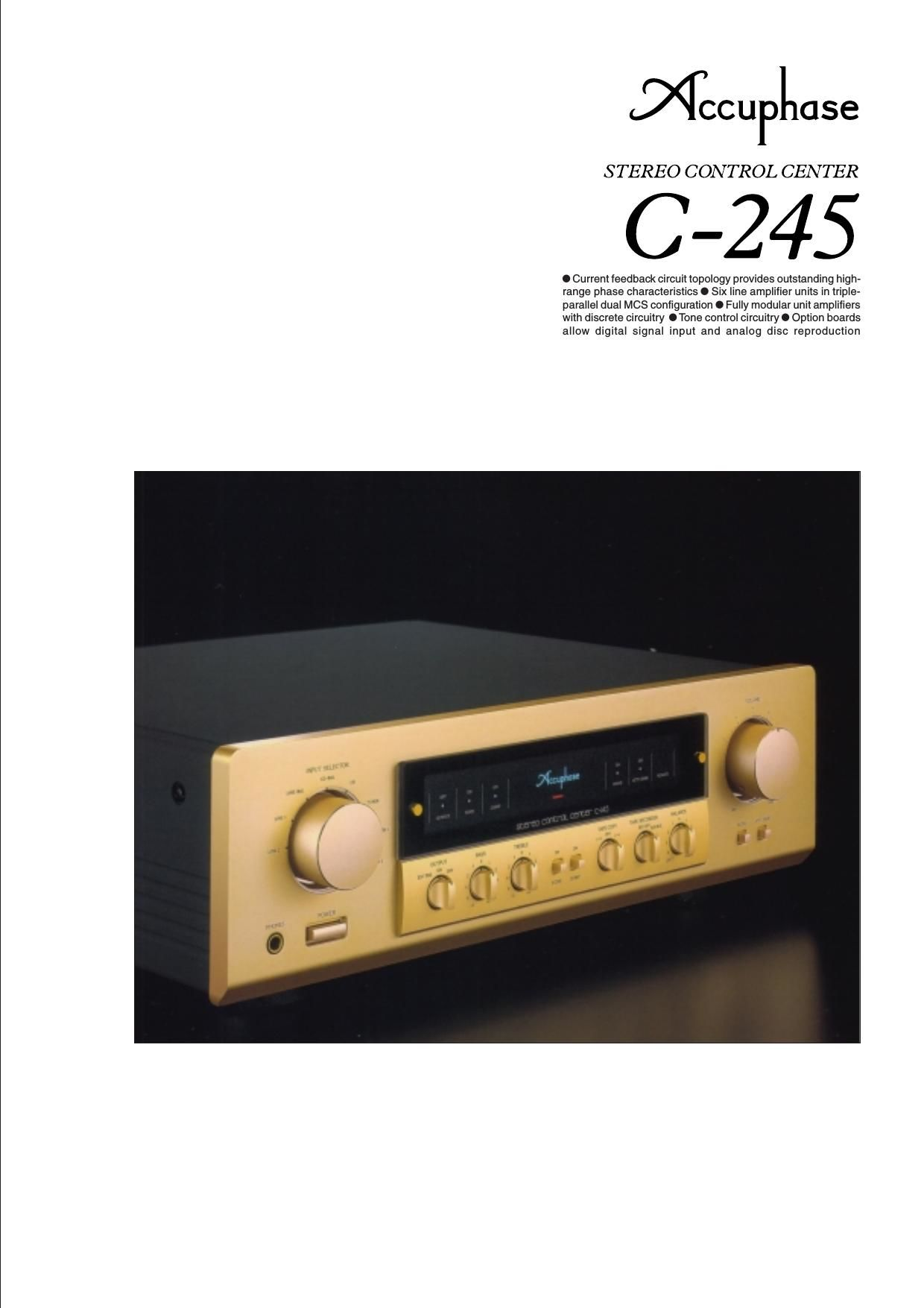 Accuphase C 245 Brochure