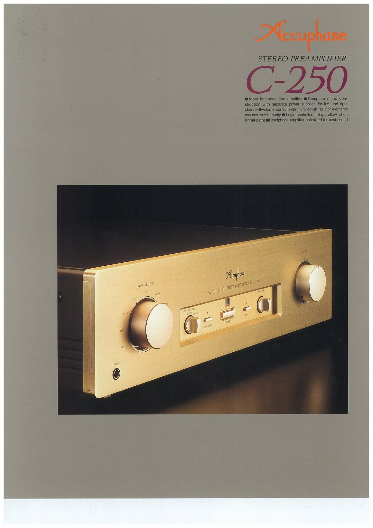 Accuphase C 250 Brochure