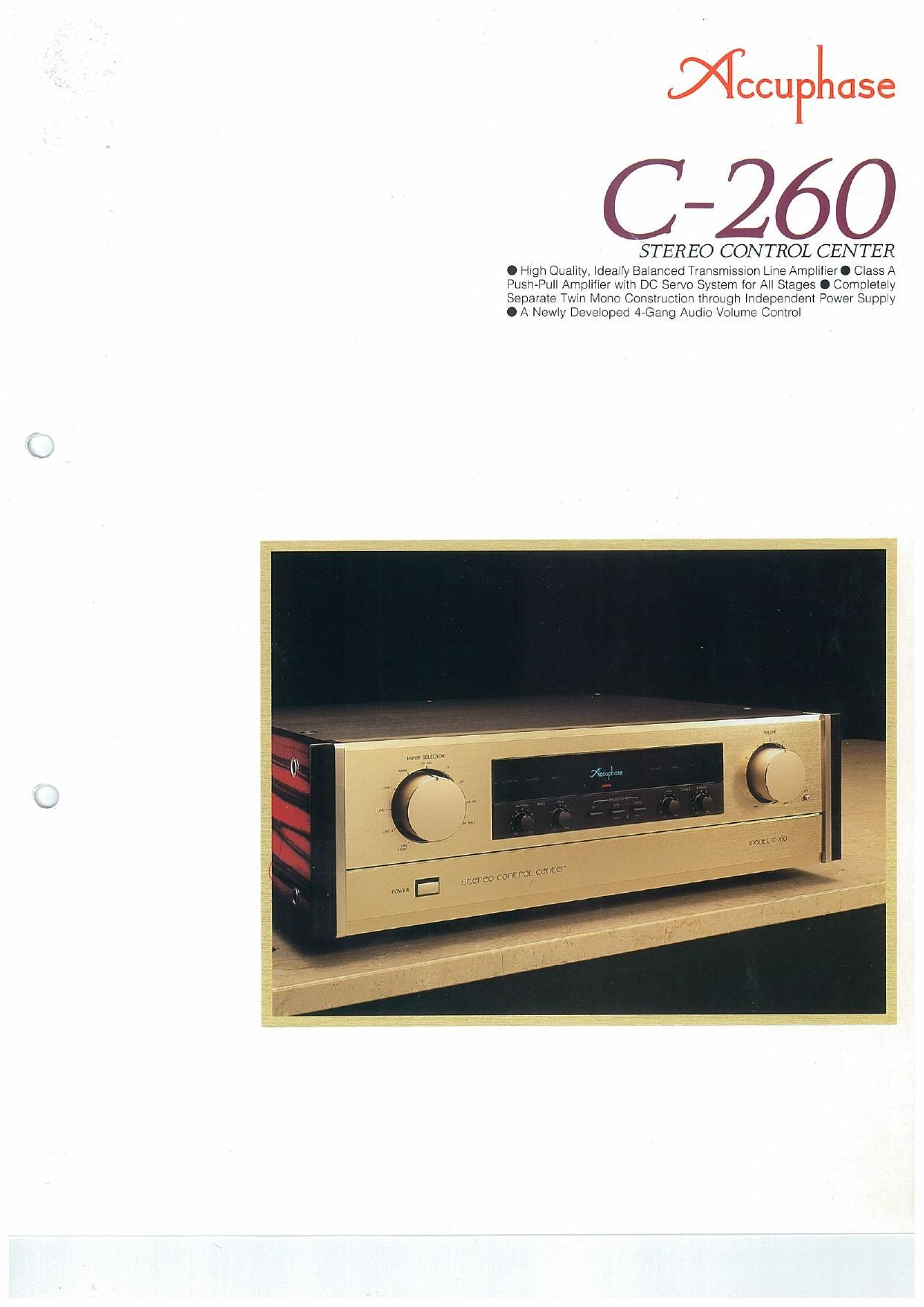 Accuphase C 260 Brochure