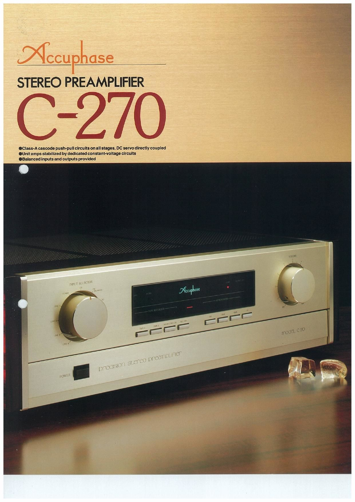 Accuphase C 270 Brochure Preamp Pushpull Circuit