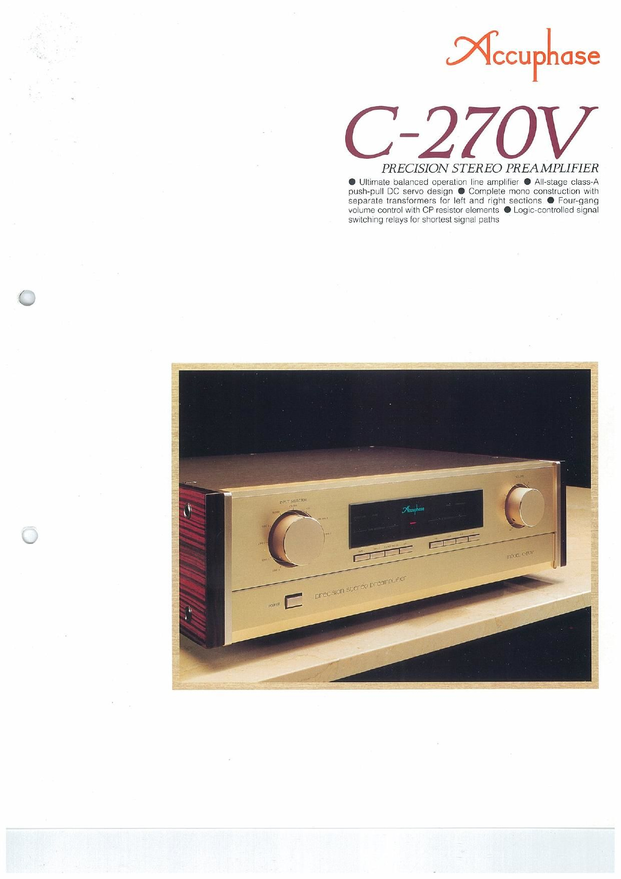 Accuphase C 270 V Brochure