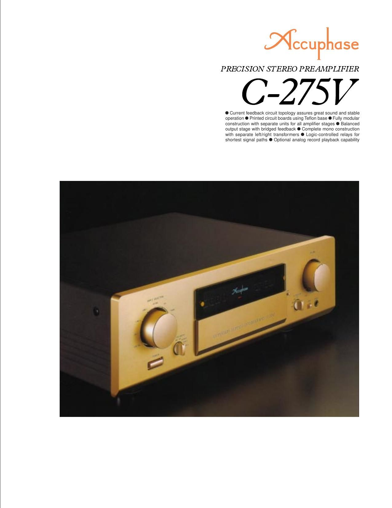 Accuphase C 275 V Brochure