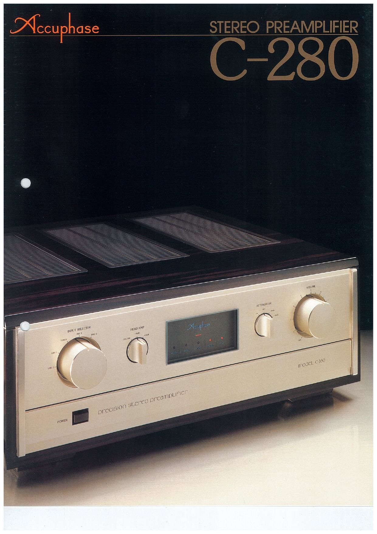 Accuphase C 280 Brochure