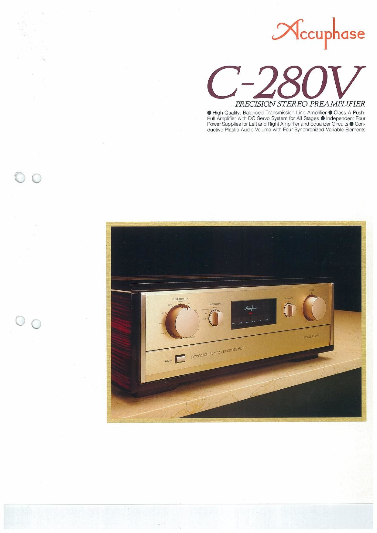Accuphase C 280 V Brochure