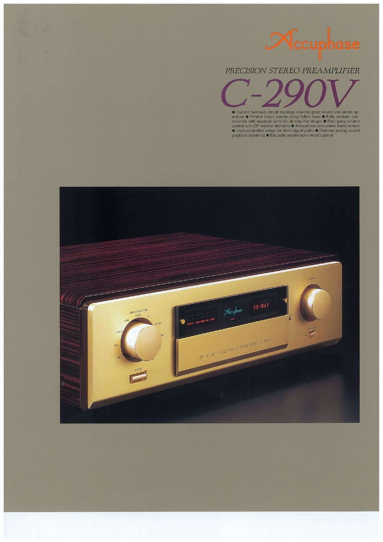 Accuphase C 290 V Brochure