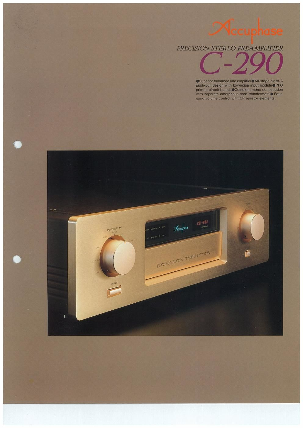 accuphase c 290 brochure