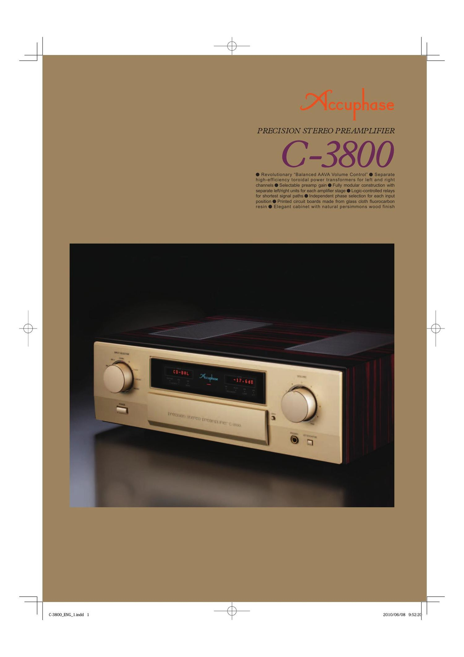 Accuphase C 3800 Brochure