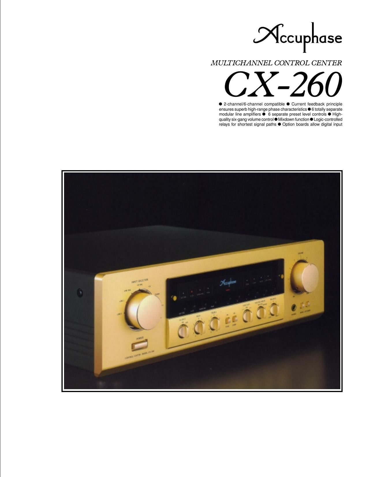 Accuphase CX 260 Brochure