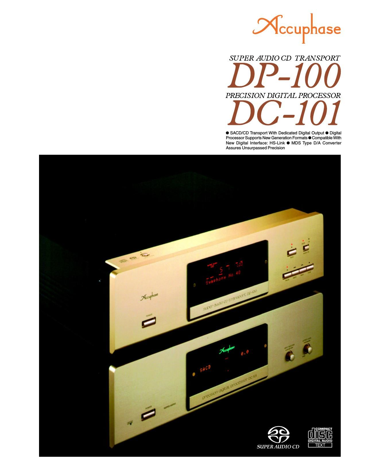 Accuphase DC 101 DP 100 Brochure