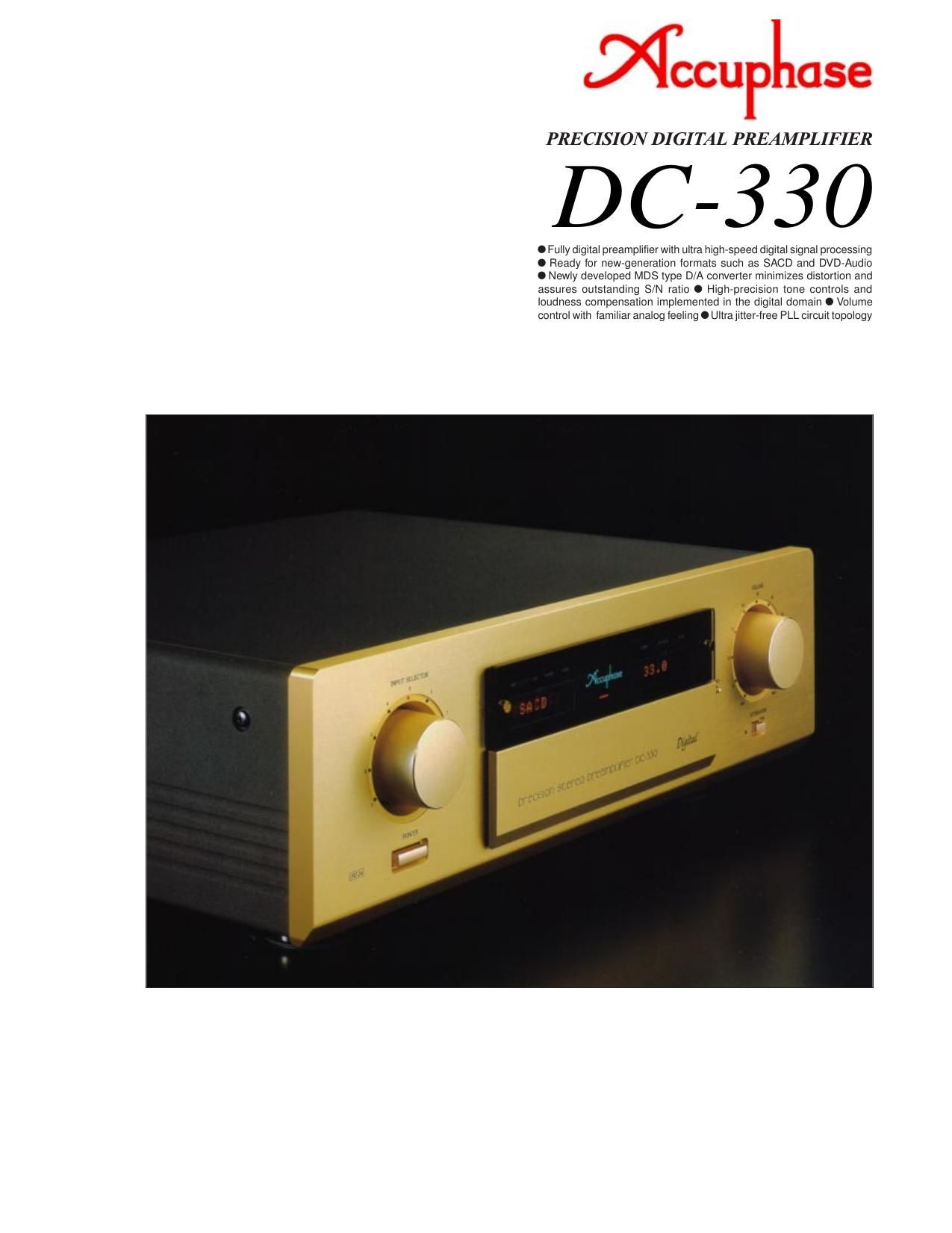 Accuphase DC 330 Brochure