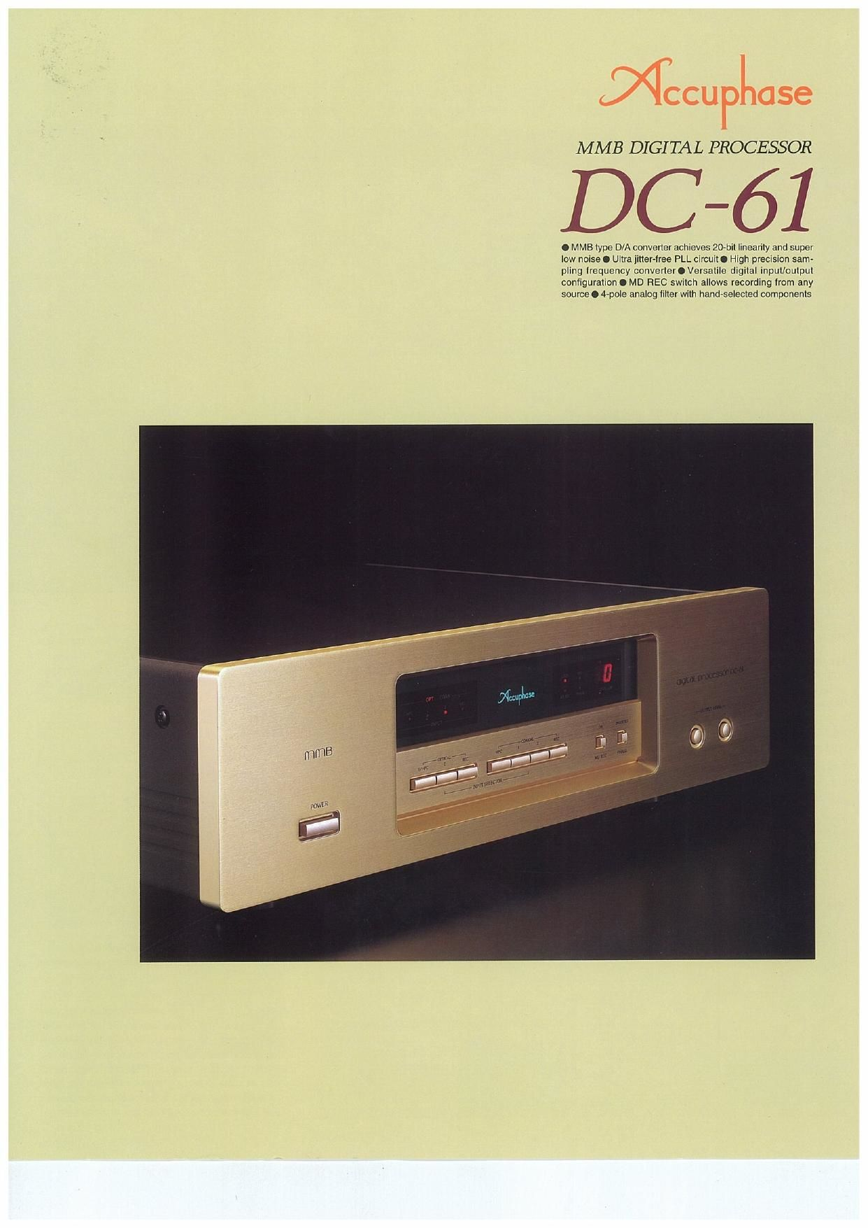 Accuphase DC 61 Brochure