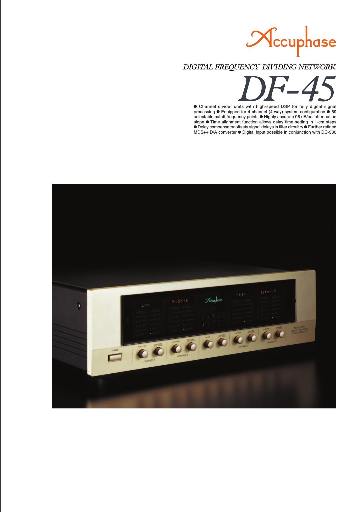 Accuphase DF 45 Brochure