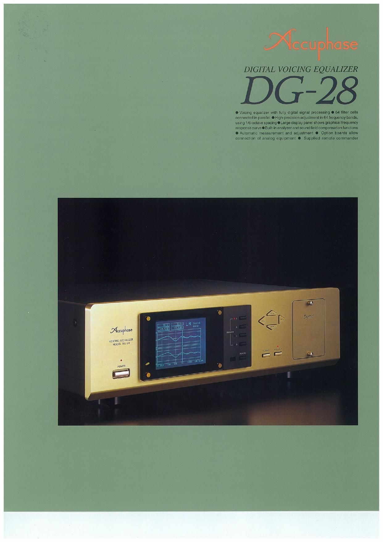 Accuphase DG 28 Brochure