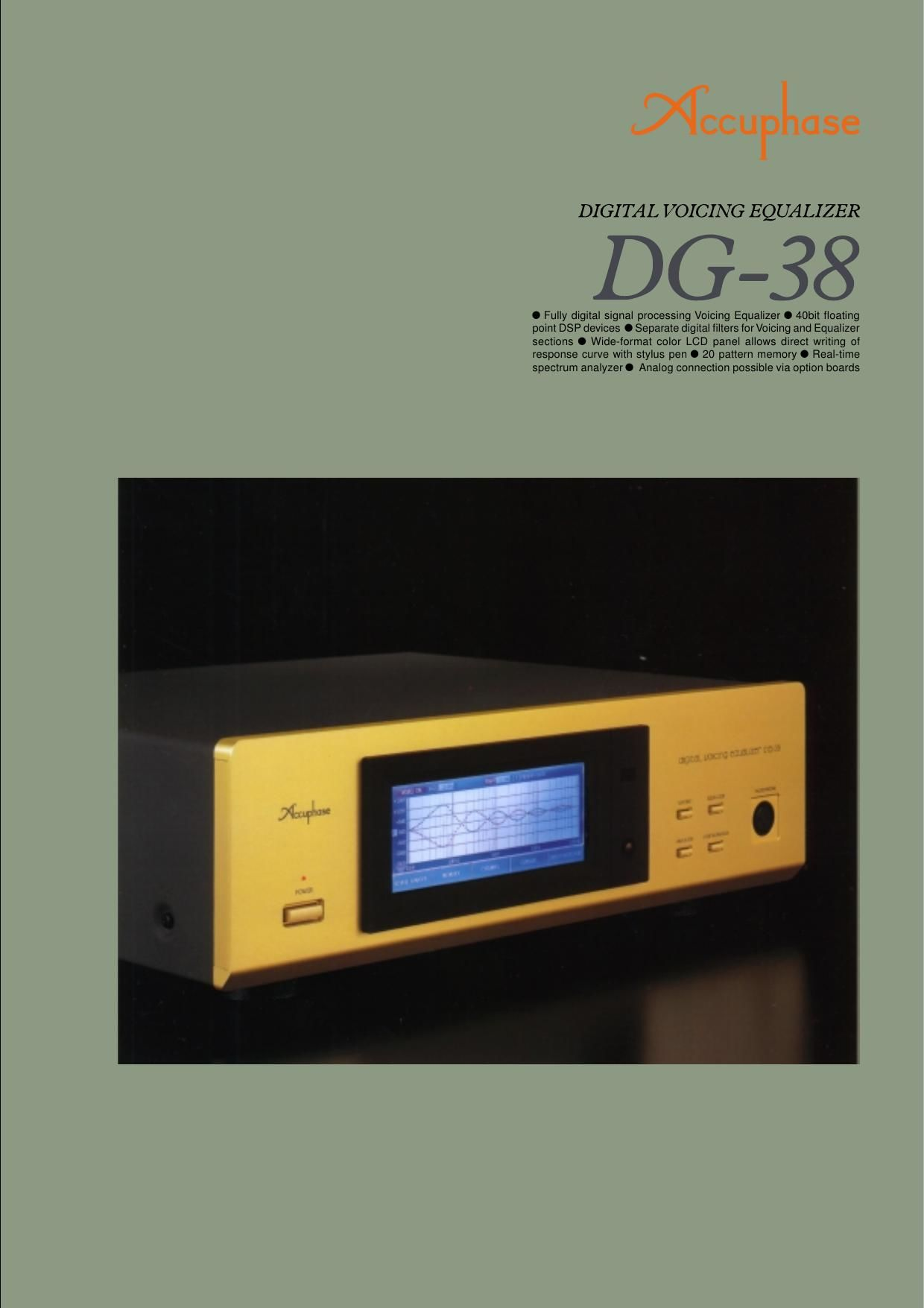 Accuphase DG 38 Brochure