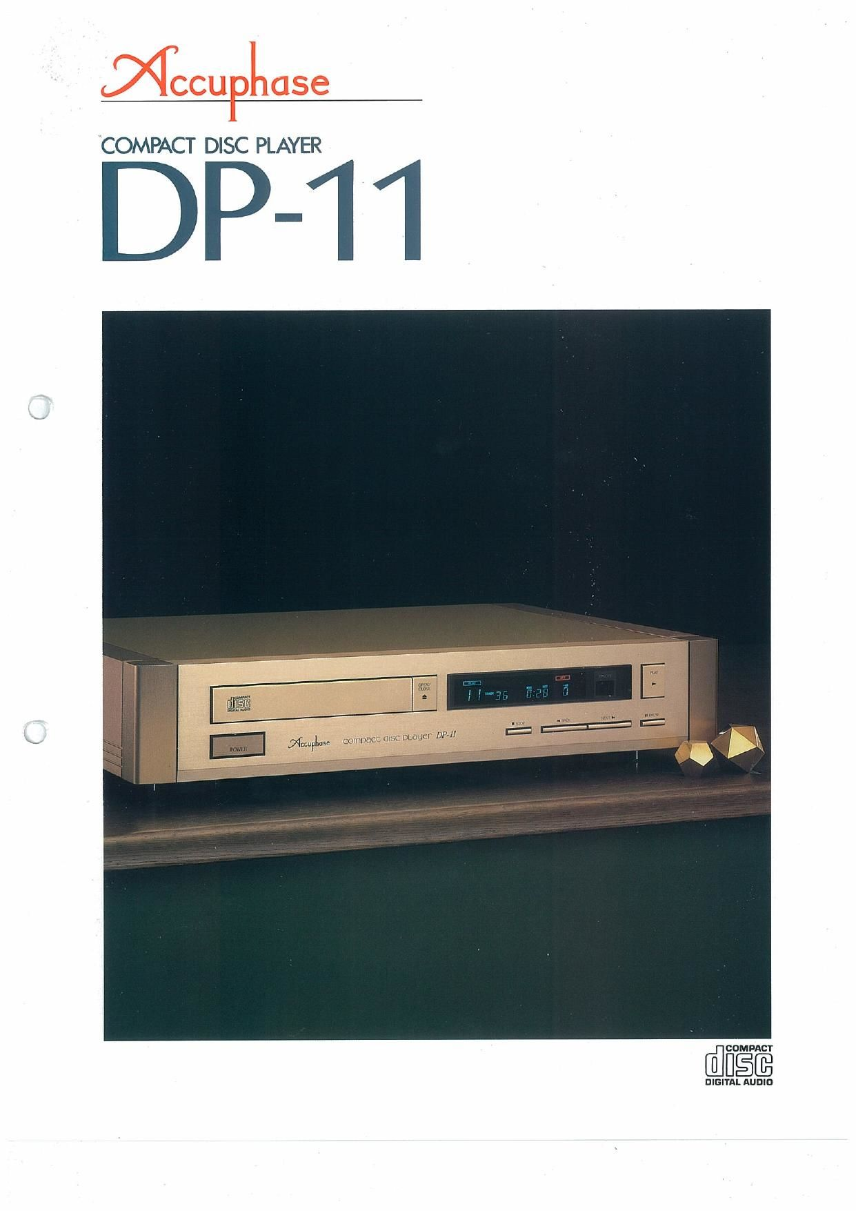 Accuphase DP 11 Brochure
