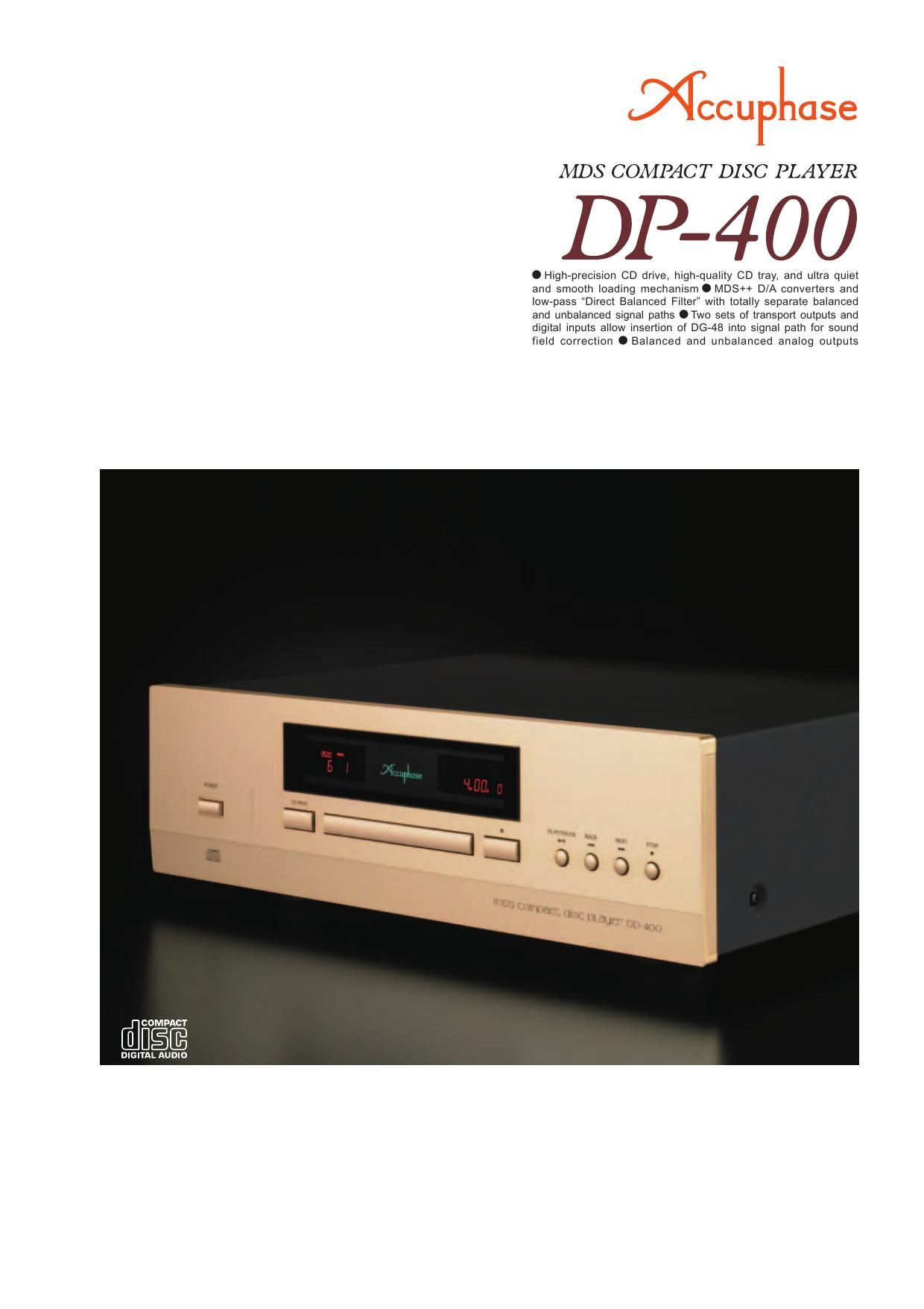 Accuphase DP 400 Brochure