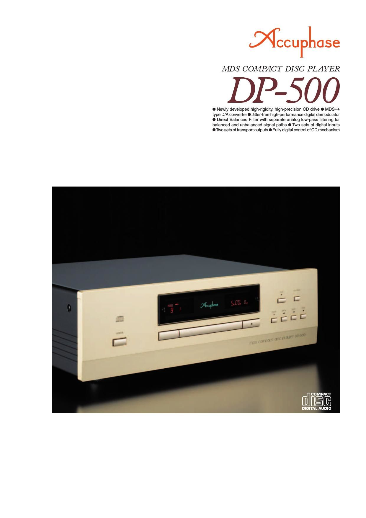 Accuphase DP 500 Brochure