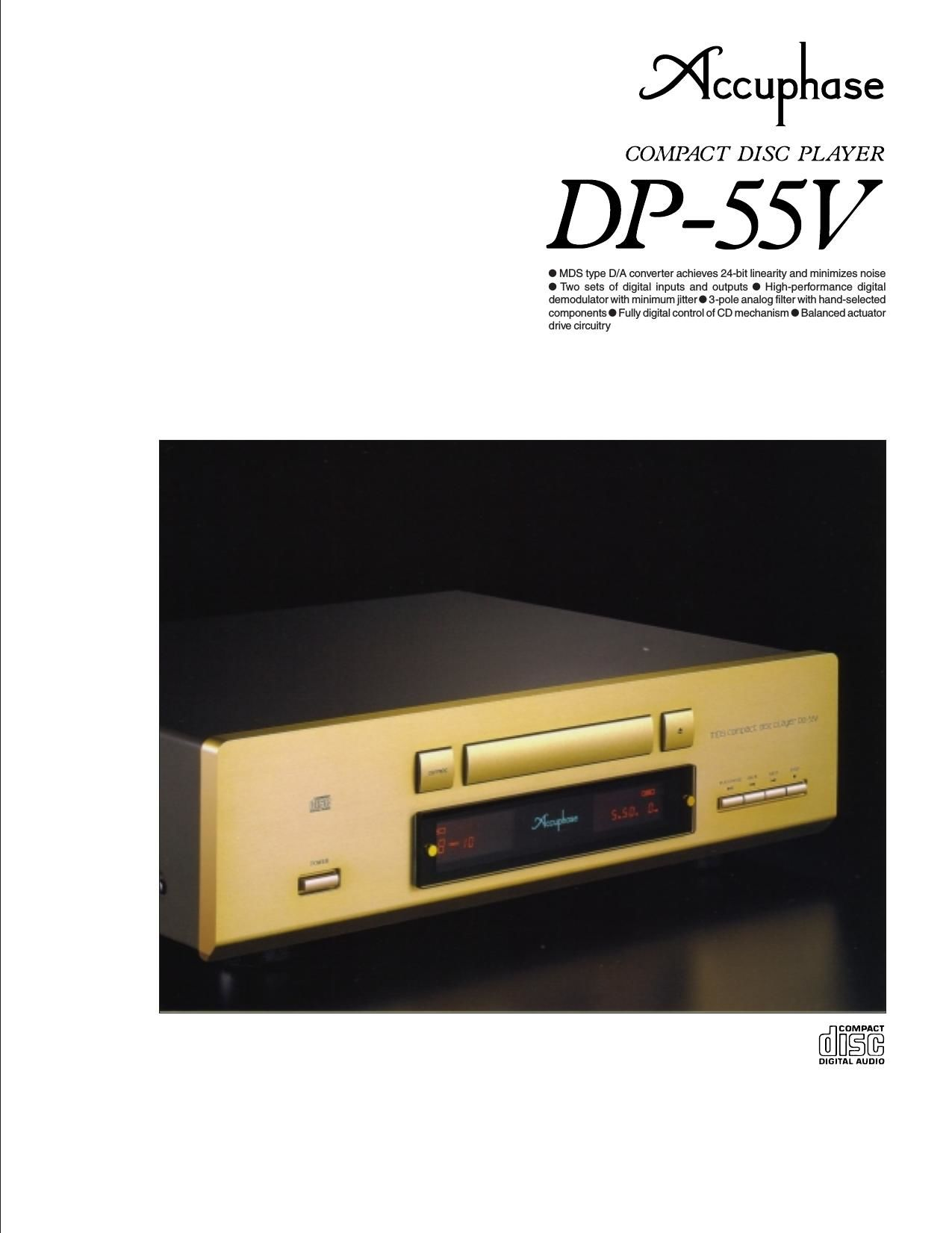 Accuphase DP 55 V Brochure