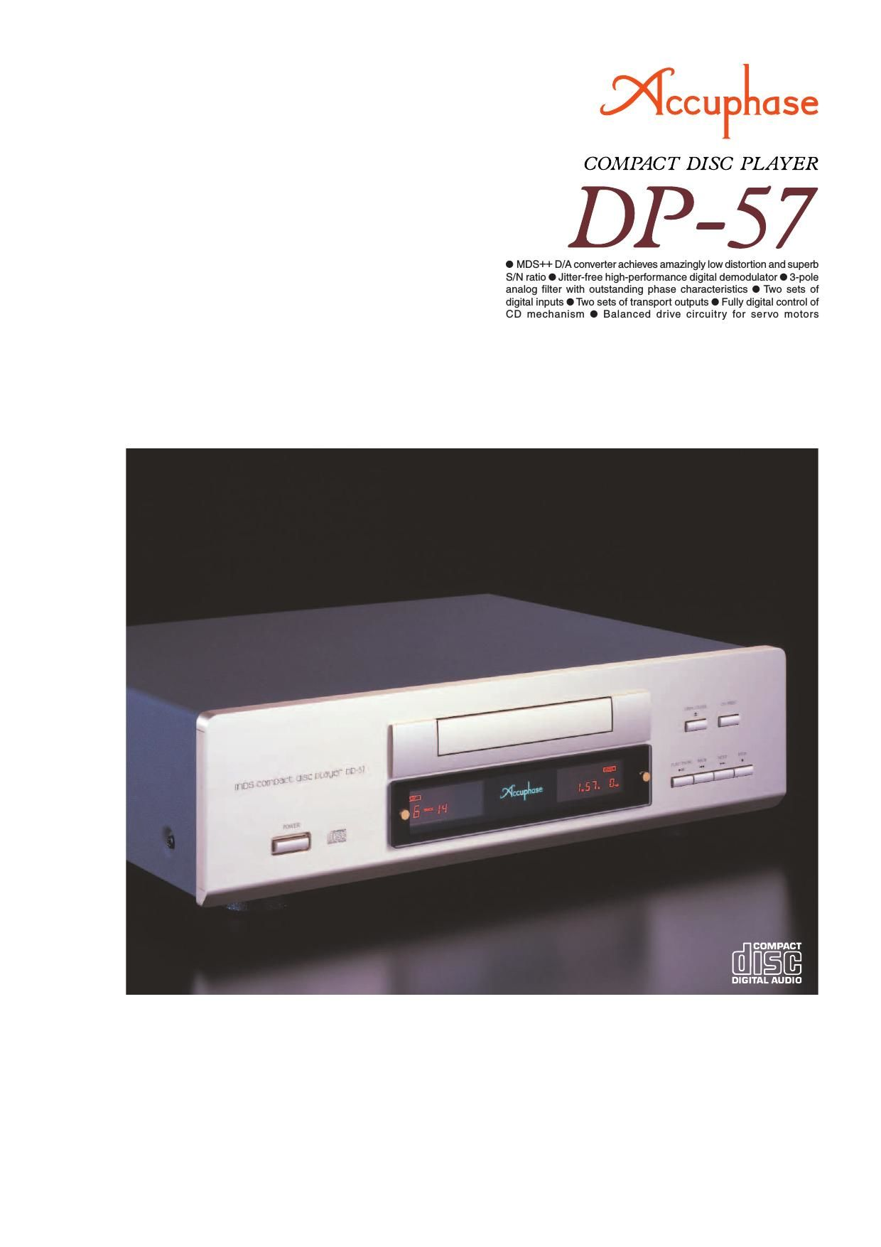 Accuphase DP 57 Brochure