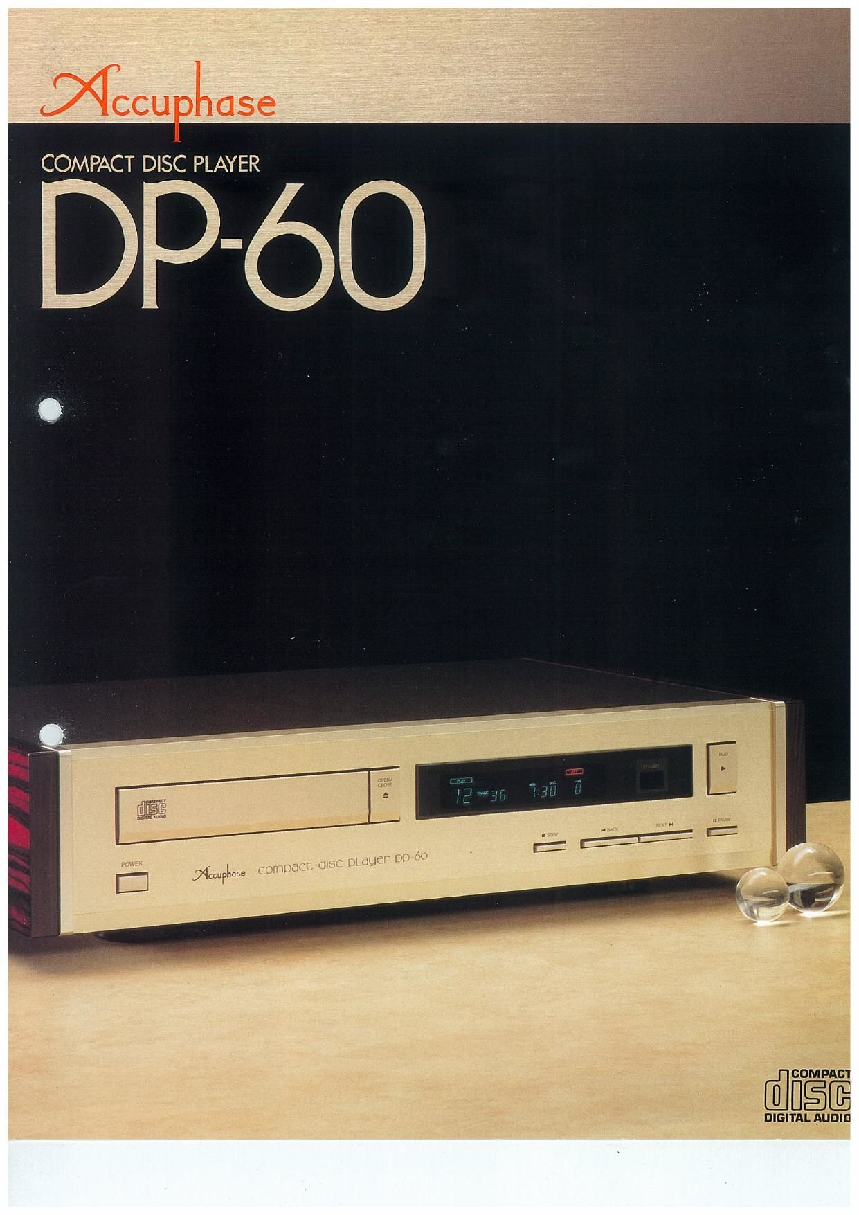Accuphase DP 60 Brochure