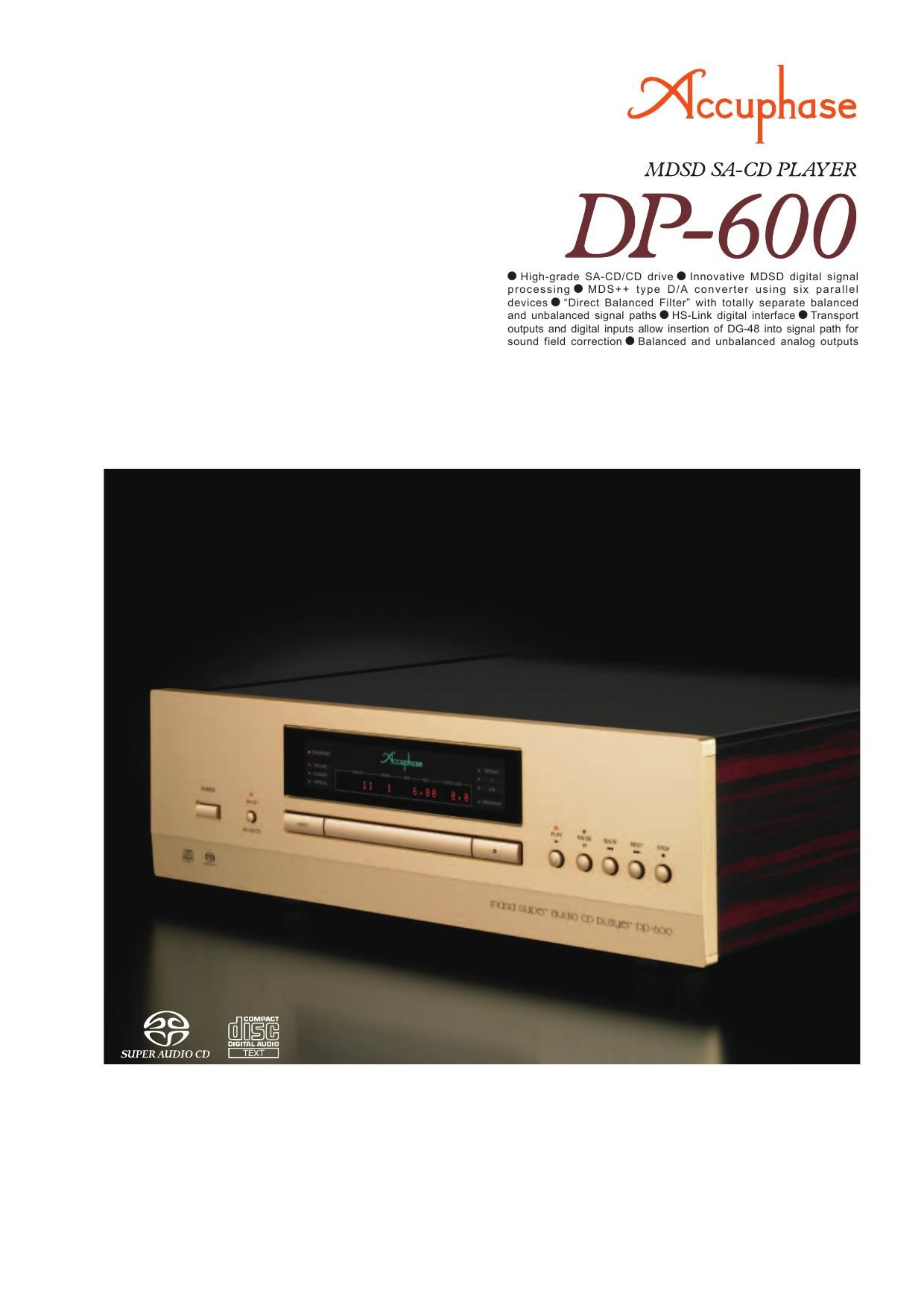 Accuphase DP 600 Brochure