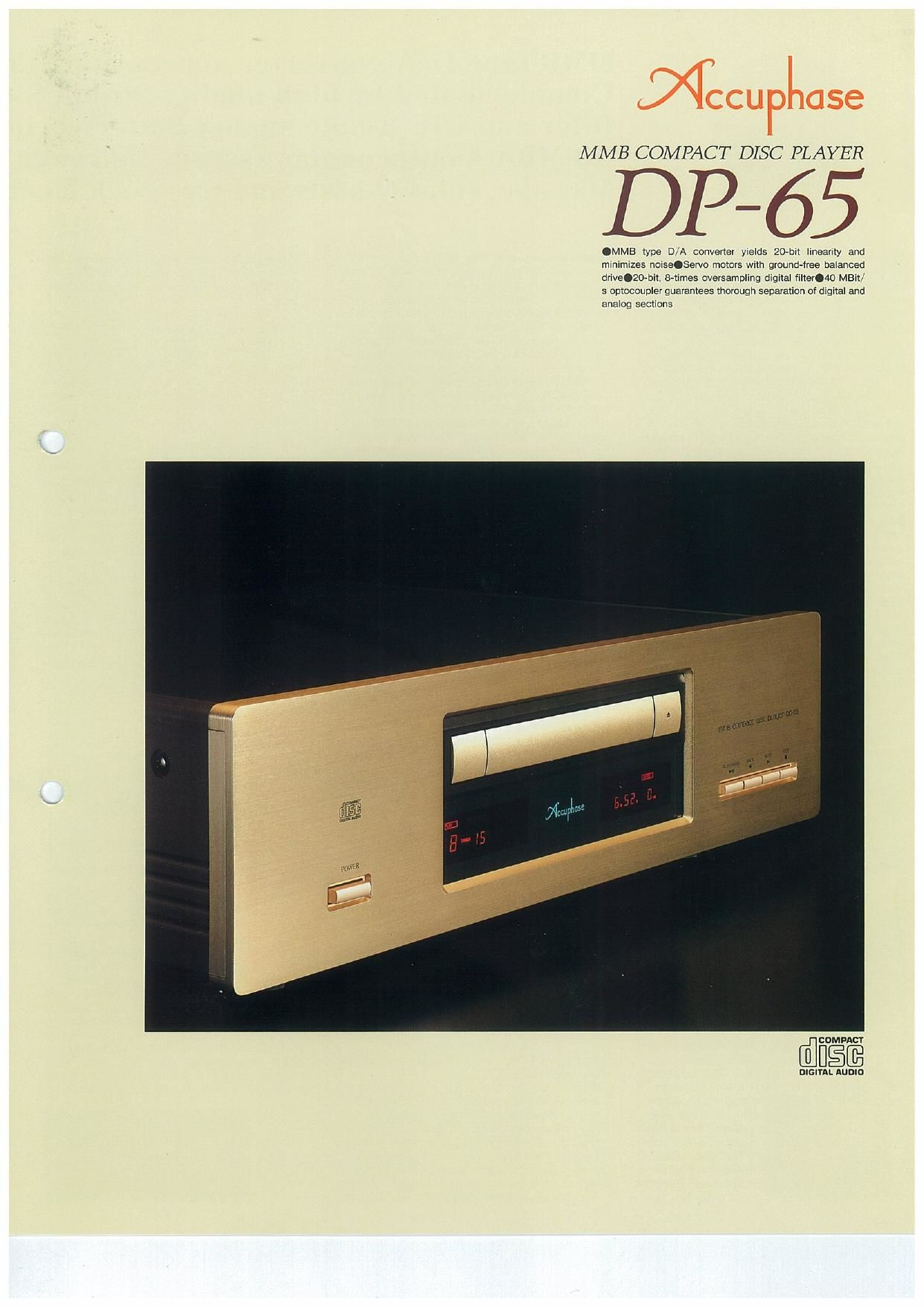 Accuphase DP 65 Brochure