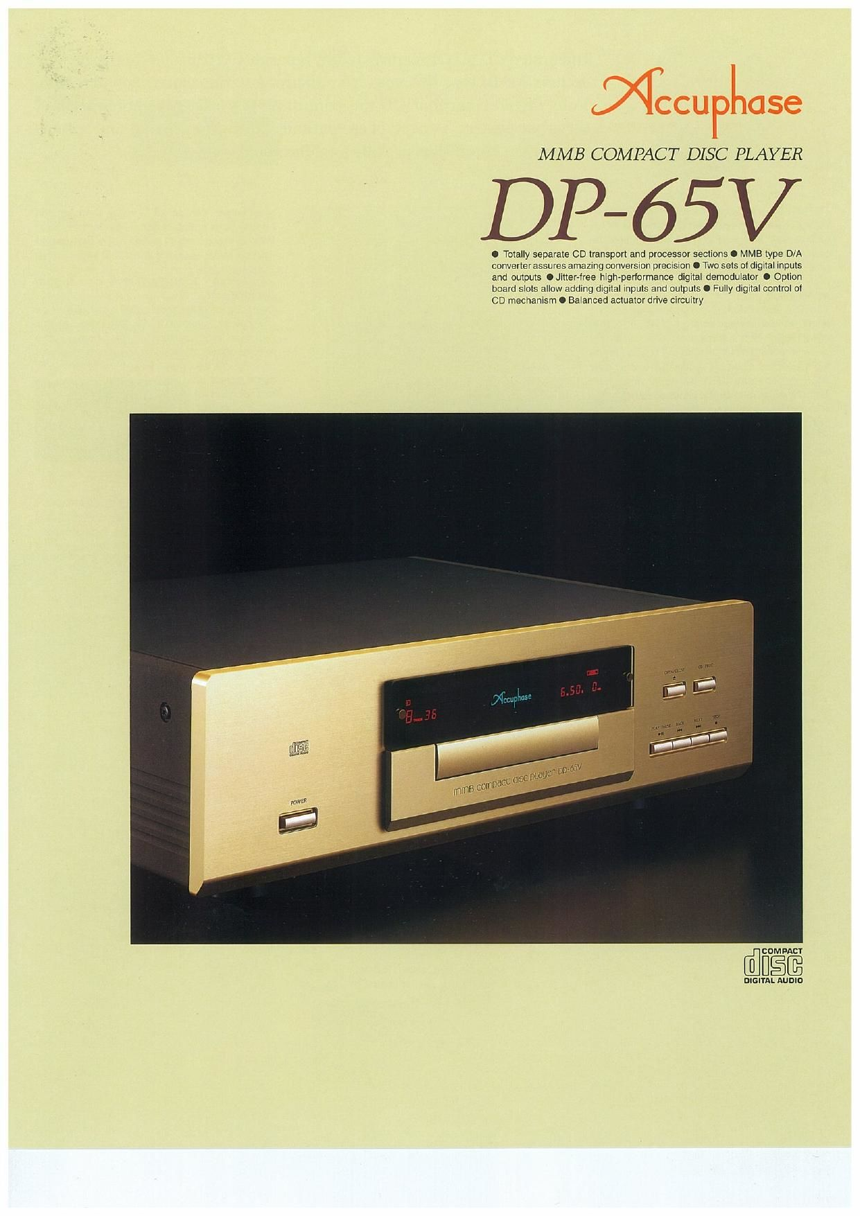 Accuphase DP 65 V Brochure