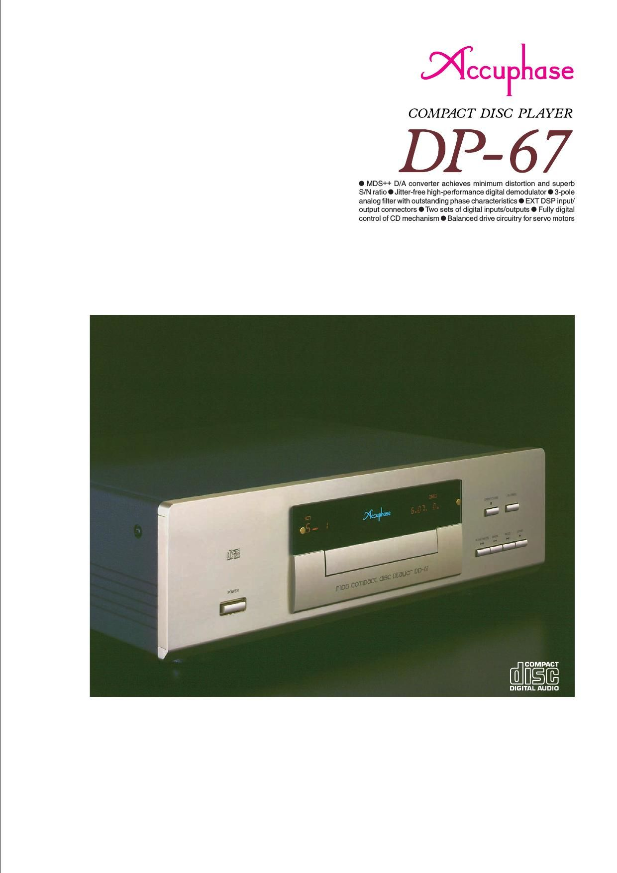 Accuphase DP 67 Brochure