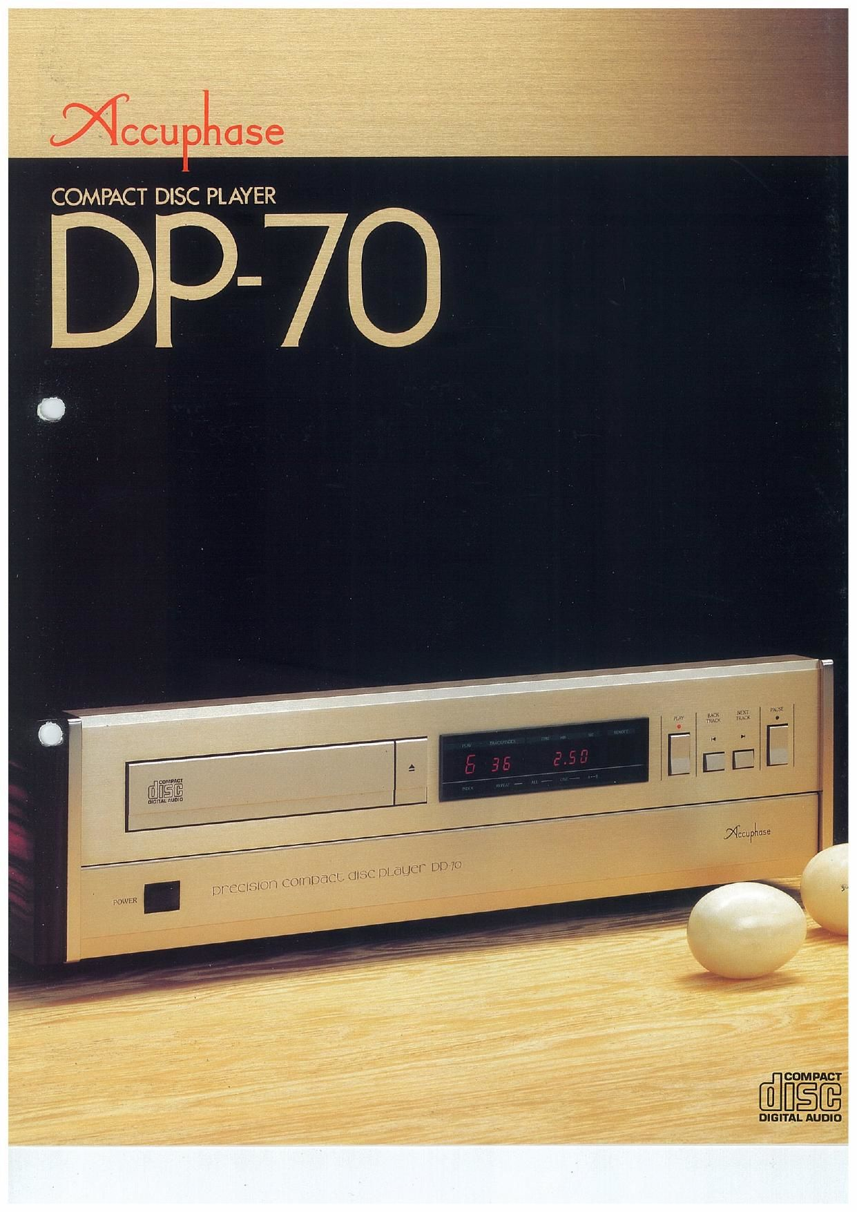 Accuphase DP 70 Brochure