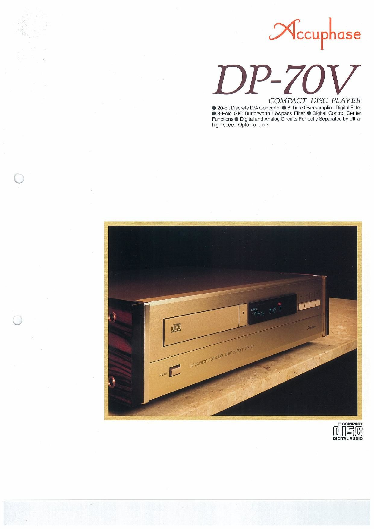 Accuphase DP 70 V Brochure