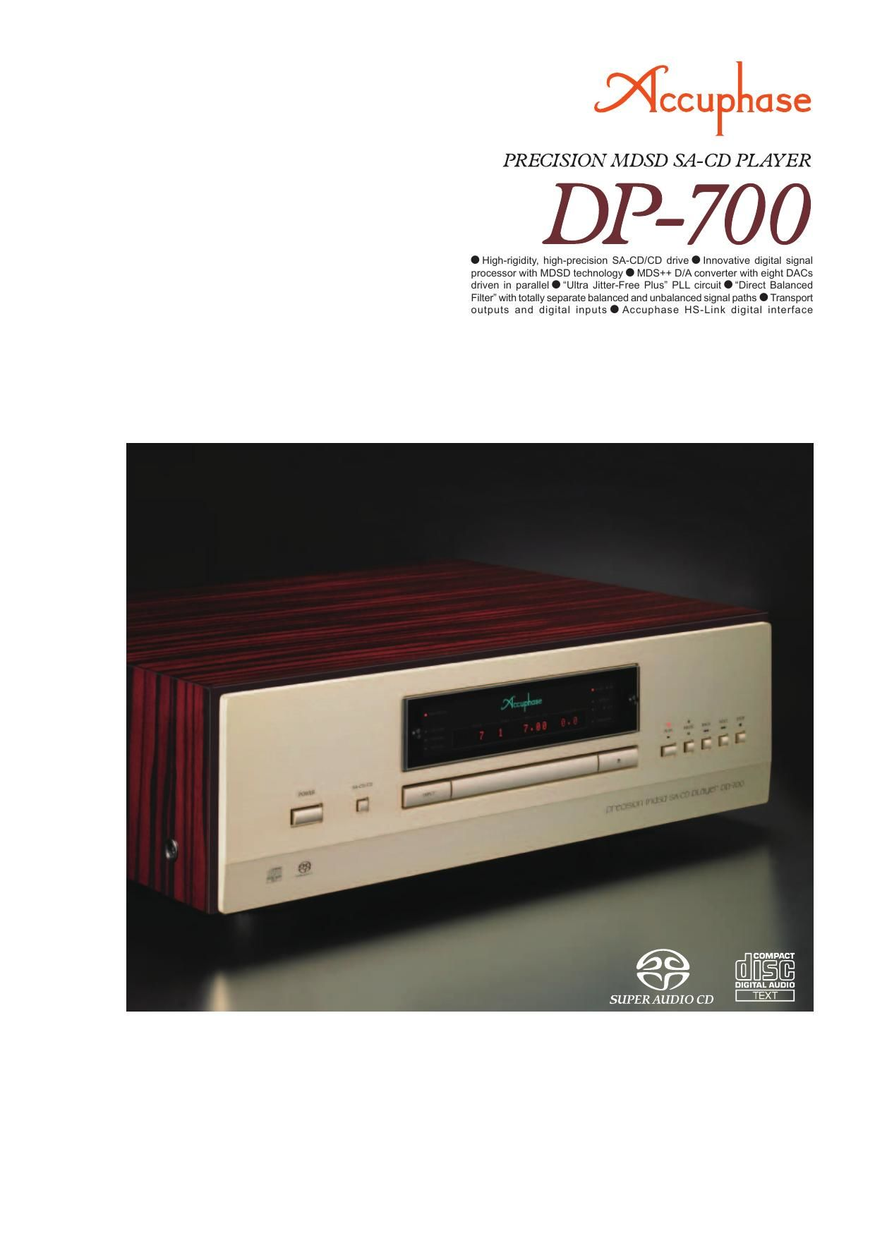 Accuphase DP 700 Brochure