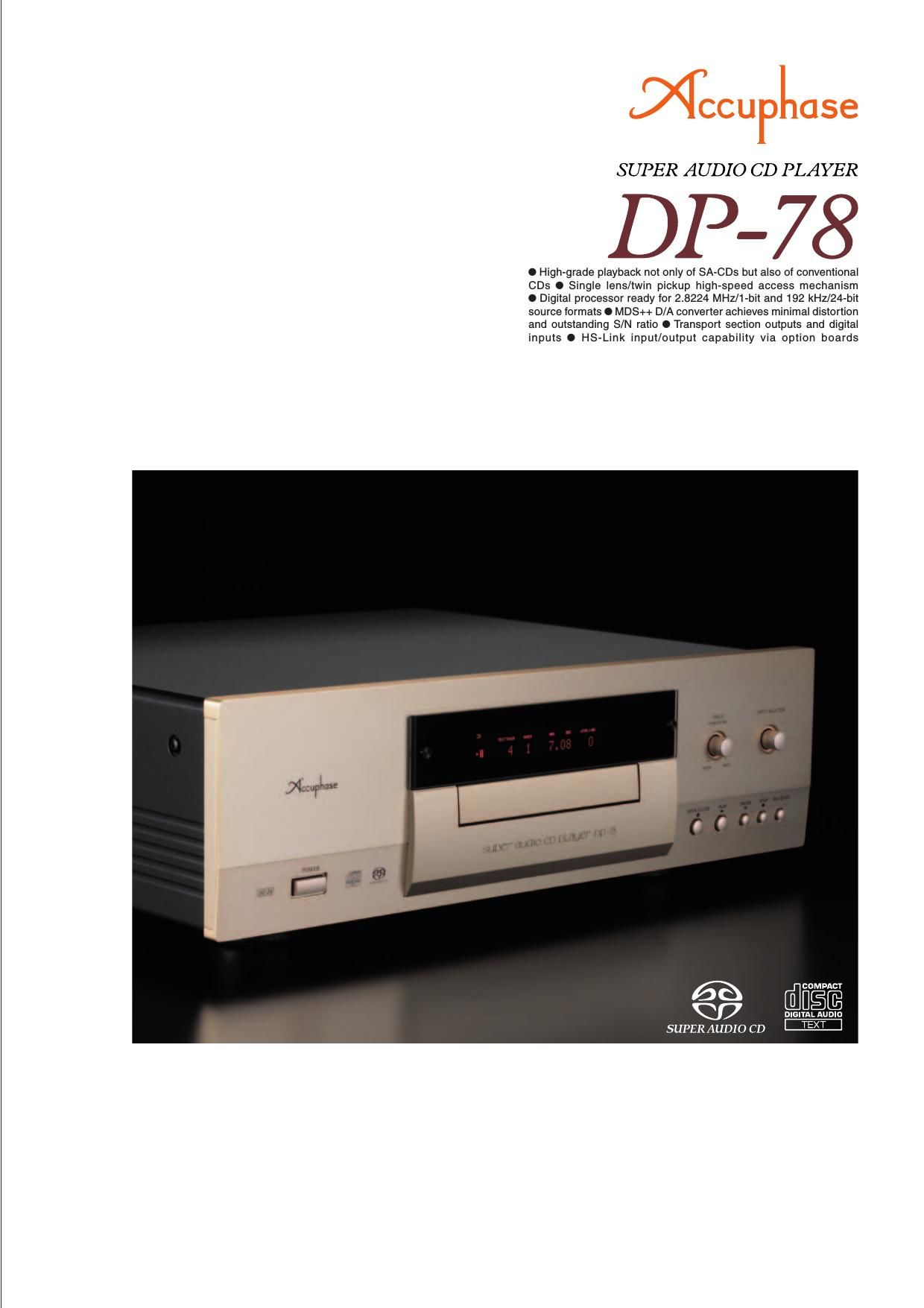 Accuphase DP 78 Brochure